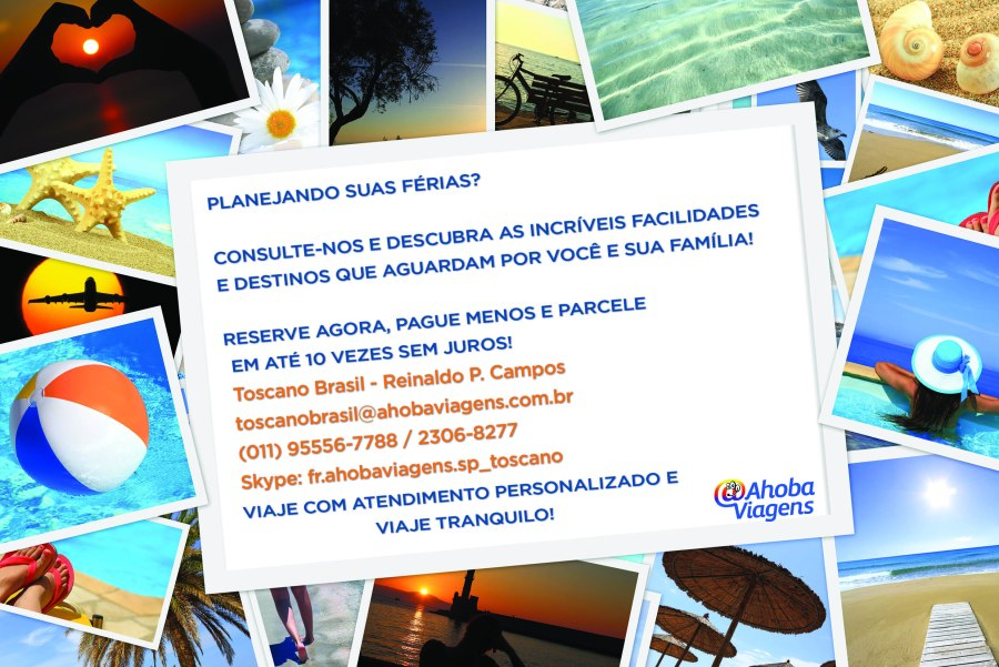 Viaje Toscano Brasil @Ahoba Viagens